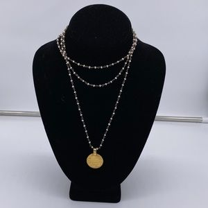 Safia Day long wrap coin necklace